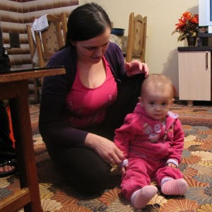 Aurela und ihre Mutter Kosovare