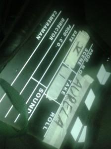 Filmklappe für das Aurela-Video
