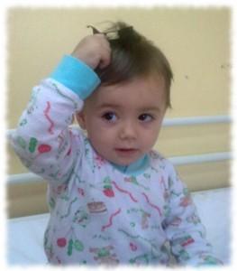 Aurela in der Klinik in Prishtina