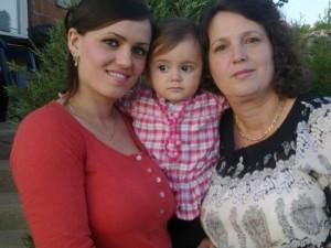 Aurela with  mum and nan